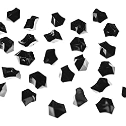Acrylic Color Ice Rock Crystals Treasure Gems for Table Scatters, Vase Fillers, Event Decorations, Wedding, Birthday Decoration Favor (190 Pieces) by Super Z Outlet (Black)