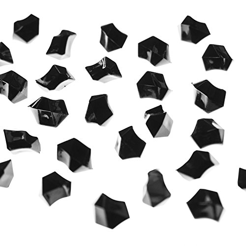Super Z Outlet Acrylic Color Ice Rock Crystals Treasure Gems for Table Scatters, Vase Fillers, Event Decorations, Wedding, Birthday Decoration Favor (190 Pieces) (Black) -