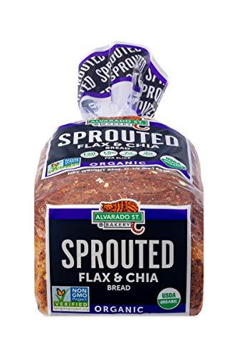Alvarado Street Bakery USDA Organic Sprouted Wheat Bread, Flax and Chia, 24 oz. (Pack of three)