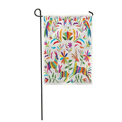 Tarolo Decoration Flag Flower Colorful Mexican Traditional ()