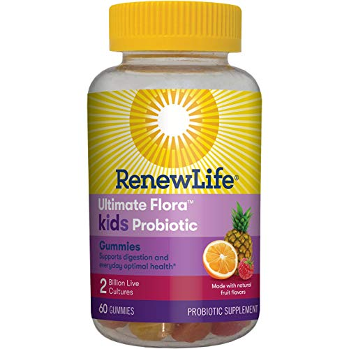 Flavors 60 Chewable Gummies - Renew Life Kids Probiotic - Ultimate Flora  Kids Probiotic, Shelf Stable Probiotic Supplement - 2 Billion - Fruit Flavor, 60 Chewable Gummies (Packaging May Vary)