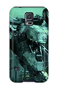 Snap-on Metal Gear Case Cover Skin Compatible With Galaxy S5