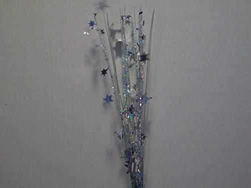 Holographic Onion Grass Metallic Star Spray Picks 12 Pcs - - Metallic Grass Onion