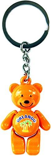 Tropical Orange Teddy Bear Keychain of Orlando, Florida