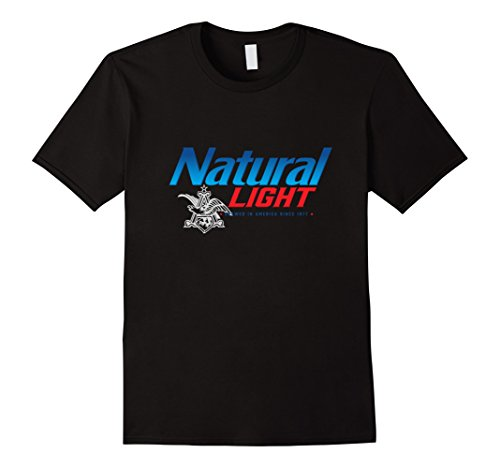 Natty Light - Mens Natural Light A&E Eagle T-Shirt Large Black