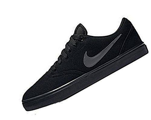 Nike Sb Check Solar Cnvs, Zapatillas de Skateboarding para Niños Negro (Negro (black/anthracite))