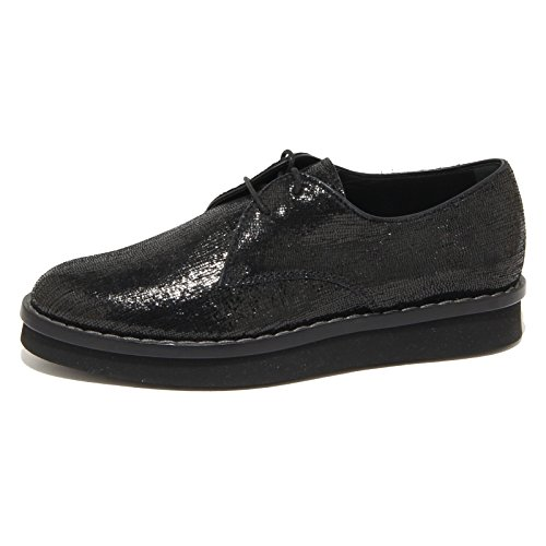 DERBY 9242N scarpa donna scarpe TOD'S shoes Nero nero allacciata women 44Uwgt