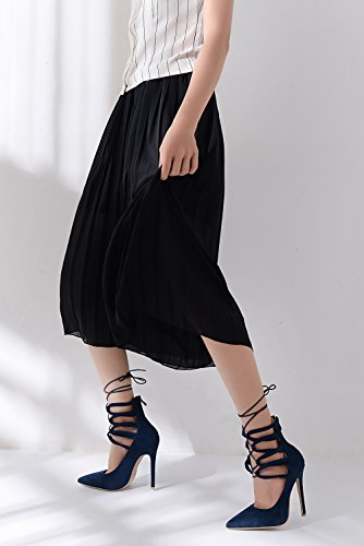 Mila Lady NAVY11 Pumps Strappy Lady DOrsay Platform ETHER21 Shoes Elegance Ankle Heeled r66xZfq0wP