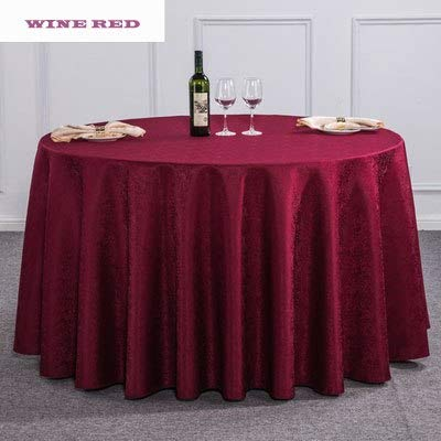 New Arrival Hotel Restaurant Gold Round Dobby Dinner Table Cloth Red Rectangle Tablecloth Washable For Wedding Birthday Party  Wine Red B07SDLPS1W