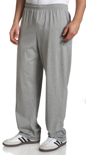 Champion Men's Jersey Pant,Granite Heather,Small