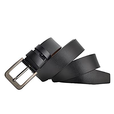 "Men Belt Genuine Leather for Regular & Big and Tall (35""-62"") Jeans Belt Dress Belt Casual & Work"
