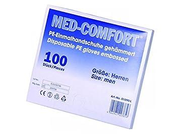 8623e5e83332dd MED COMFORT Einmalhandschuhe 100St. PE/ Kunststoff gehämmert Handschuhe  Herren Neu und OVP