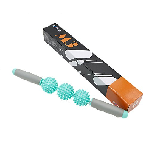 kbxstart Hedgehog Ball Relax Muscle Massage Sports Roller Yoga Stick Massage Stick Relaxation Fascia Stick by kbxstart