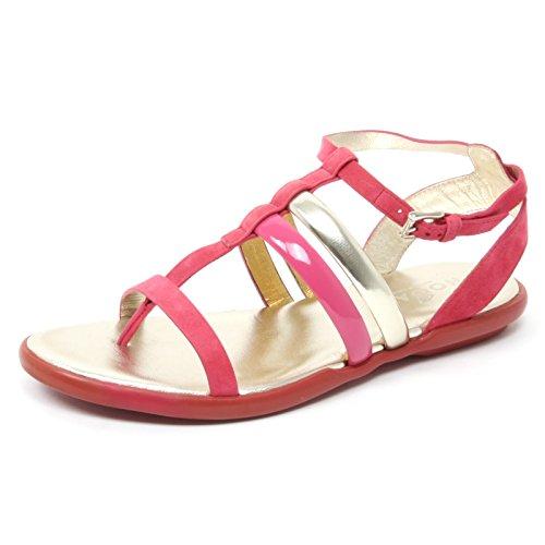 B4699 infradito donna HOGAN IBIZA scarpa fucsia/platino shoe flip flop woman fucsia/platino