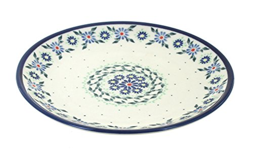 Blue Rose Polish Pottery Petite Bouquet Dessert Plate ()
