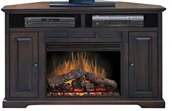 Amazoncom Brentwood 56 Corner TV Stand with Electric Fireplace