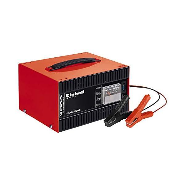 41UOSvRQgcL Einhell 1050821 Batterie-Ladegerät CC-BC 10 E (12 V, für Batterien von 5-200 Ah, Ladeelektronik, Stahlblechgehäuse, inkl…