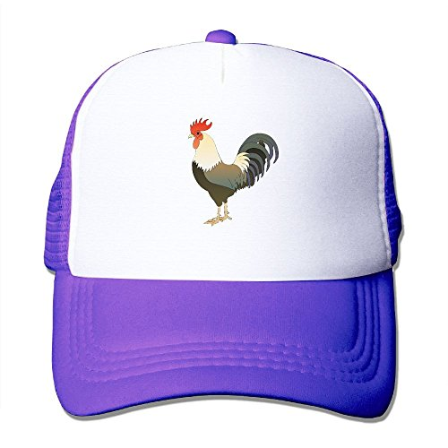 Rooster Clipart - Shenhuakal Adjustable Mesh Caps Clipart Rooster Unisex Outdoor Snapback Trucker Hats Purple