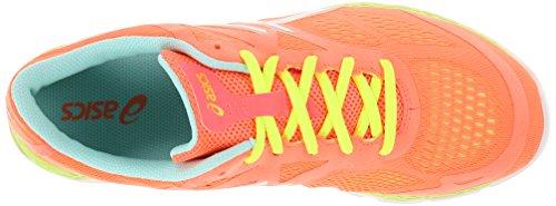 Asics Womens 33-fa Scarpa Da Corsa Coral / Flash Giallo / Menta