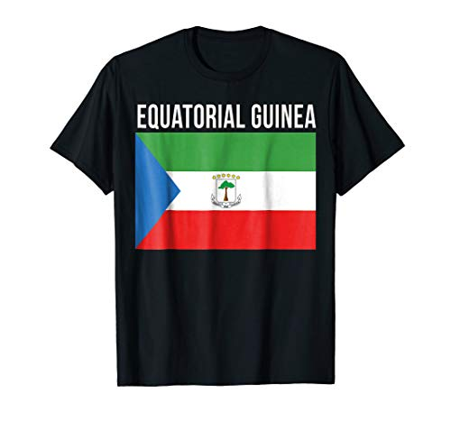 (Equatorial Guinea Heritage Roots Flag T-shirt)