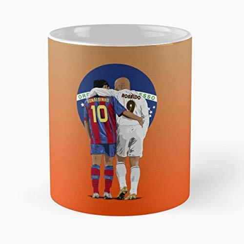 Ronaldo Lima Ronaldinho Gaucho Gift Ceramic Novelty Cup 11 Oz