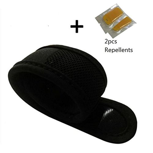 Fullfun Anti Mosquito Bug Insect Repellent Bracelet Wrist Band + 2Pc Repellent tablets (Black)