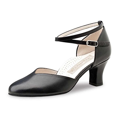 Werner Kern Ladies Dance Shoes Kyra - Black Leather - 6 cm OL9b0FCsfN
