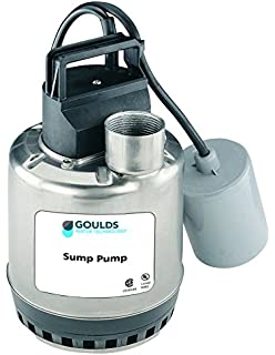 230 V 1//2 HP No Switch Goulds EP0512F Submersible Effluent Pump 6.5 Amps