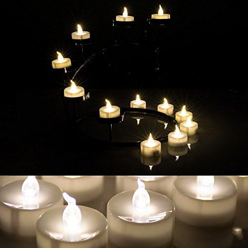 AGPtEK Lot 24 Battery Operated LED Warm White Tea Light