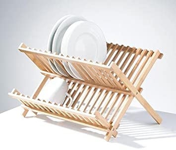Attractive FOLDING PLATE DISH DRAINER STANDARD DRAINING BOARD WOODEN By  Www.choicefullshop.com
