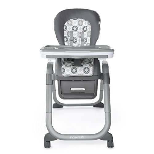 Ingenuity SmartServe 4-in-1 High Chair with Swing Out Tray – Clayton – High Chair, Toddler Chair, and Booster