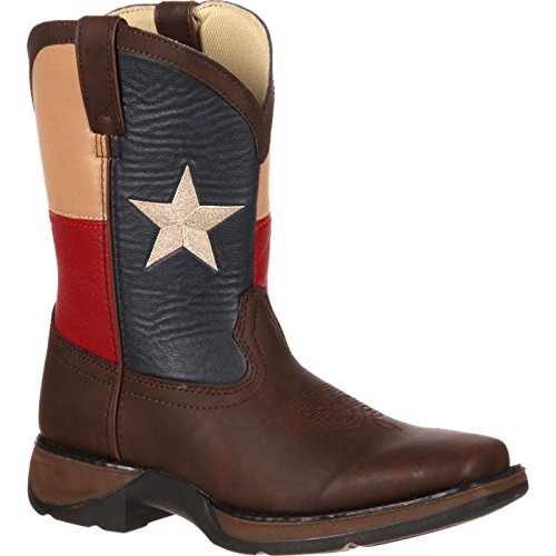Durango Kids BT246 Lil' 8 Inch Texas Flag,Brown/Texas Flag,6 M US Big Kid
