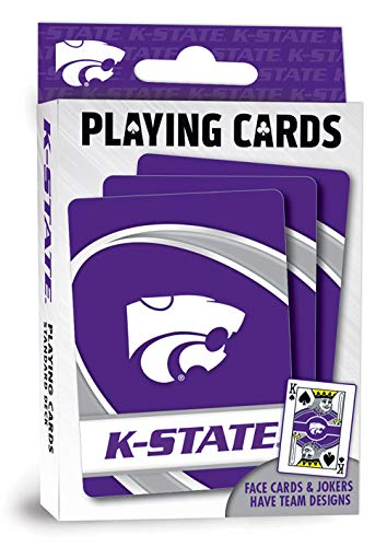 NCAA Kansas State Wildcats Unisex Playing CardsMasterPieces NCAA Playing Cards, Kansas State Wildcats, One Size