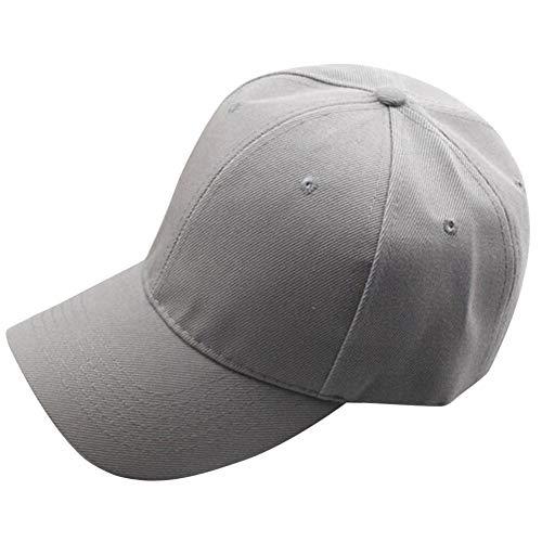 DondPO Classic Baseball Hat, Unisex Plain Baseball Cap Adjustable Size Dad Hat Curved Visor Hat Mesh Sun Hat Gray -