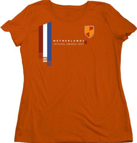 Ann Arbor T-Shirt Co. Women's Netherlands National Drinking Team Cut T-Shirt