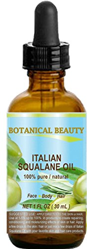 Hair 37 Vitamins Formula (SQUALANE Italian. 100% Pure / Natural / Undiluted Oil. 100% Ultra-Pure Moisturizer for Face , Body & Hair. Reliable 24/7 skincare protection. 1 fl.oz- 30ml. by Botanical Beauty.)