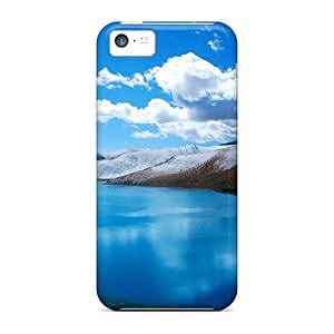Unique Design Iphone 5c Durable Tpu Case Cover Glacier Lake