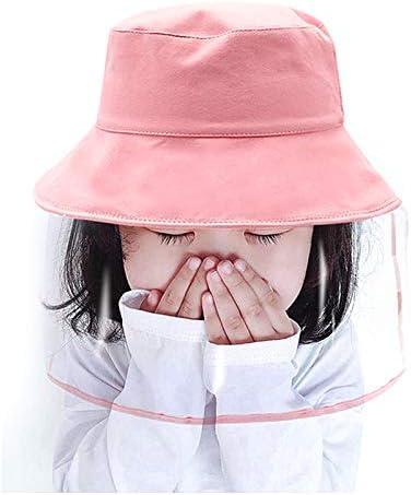 漁師帽 子供漁師帽 日除け帽子 UVカット 帽子 ハット フェイスカバー 透明タイプ 釣り 防風 防塵 男女兼用