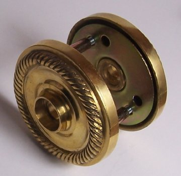 Hand Forger Natural Brass Rope Rosettes with a Premium Self-connecting System. Un-lacquered Solid Natural Brass Retrofit Rosettes Retrofit to Fit Your Finest Antique Knobs in Modern Pre-drilled Doors
