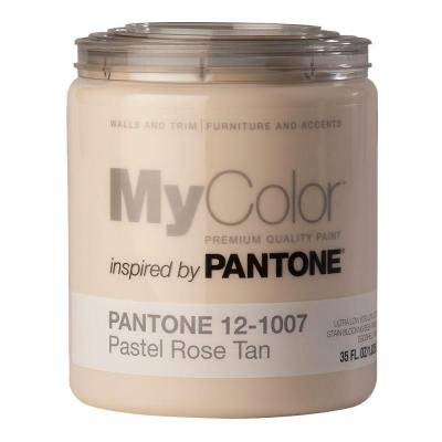 MyColor inspired by PANTONE Self Priming Paint 35 FL. OZ, (Pastel Rose Tan (Eggshell Pastel Base Paint)
