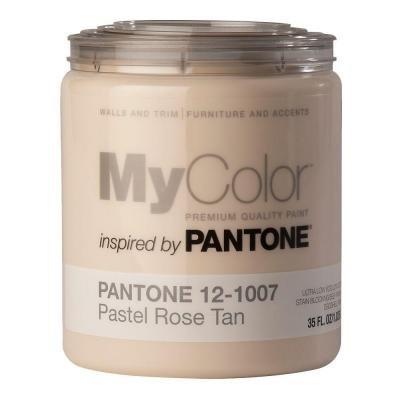 MyColor inspired by PANTONE Self Priming Paint 35 FL. OZ, (Pastel Rose Tan (12-1007))