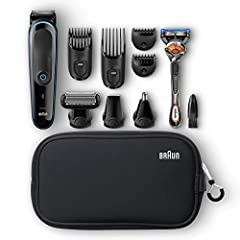 Discover one of Braun's best gifts for men with the new All-in-one trimmer MGK 3980. Achieve a range of different lengths (0.5 - 21mm) for hair, beard and body trimming. 13 length settings and lifetime sharp blades for ultimate precision. 9-i...