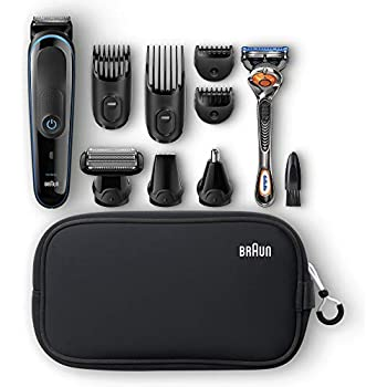 Braun Multi Grooming Kit MGK3980 Black Blue – 9-in-1 Precision Trimmer for  Beard and Hair Styling 07312dfd1a3b3