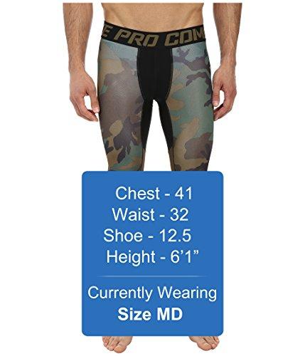 105e298e01521 Nike Mens Pro Combat Hypercool Woodland Compression Tights Iguana ...