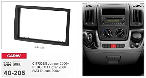 Campervan 40 205 Double Din Car Radio Fascia For Citroen Jumper Peugeot Boxer Fiat Ducato 2006