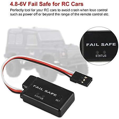 Schwarz 4.8-6V Accelerator Fail Safe Protector Anzug f/ür alle RC Car Truck Buggy Failsafe Ersatzteile mit LED-Anzeige Servo Receiver