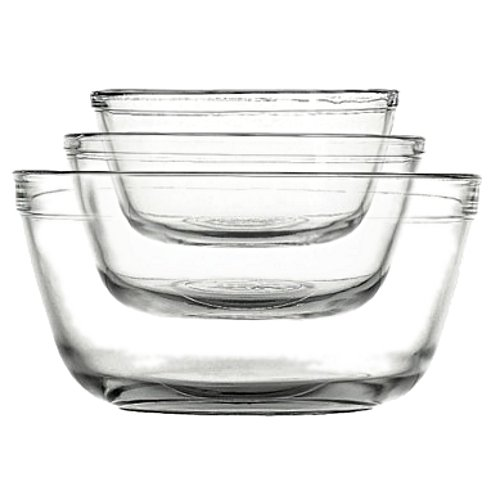 Anchor Hocking Crystal Bowls - Anchor 77996 3-Piece Mixing Bowl Set, Clear