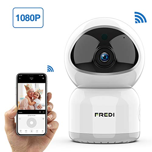 Baby Monitor, FREDI 1080P Wireless WiFi Pet Camera with Night Vision, Two-Way Audio, Motion Detection, IP Surveillance for Elder/Nanny Monitor - Work with iOS Android PC (Room Monitors For Elderly)