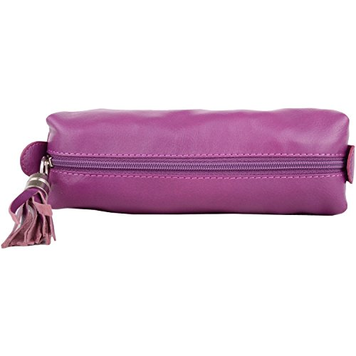 Pouch Fuchsia Make Up Hide Cosmetics Pencil Soft Case Womens Leather Prime axqwX7nzv