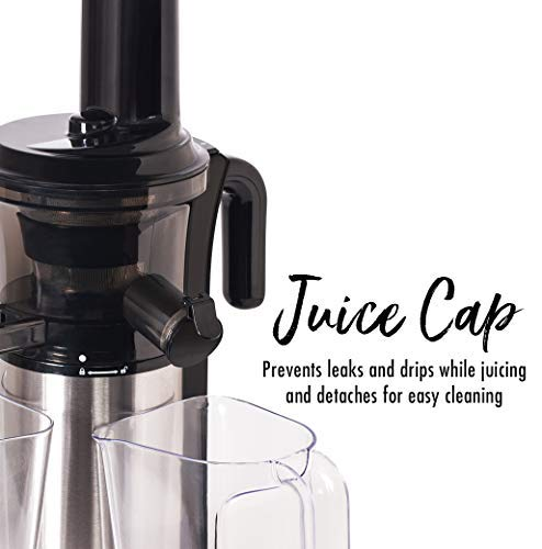 Shine Kitchen Co. Vertical Slow Juicer, SJV-107-A Cold Press, Masticating Juice Extractor, Silver and Black by Shine Kitchen Co. by Tribest (Image #2)